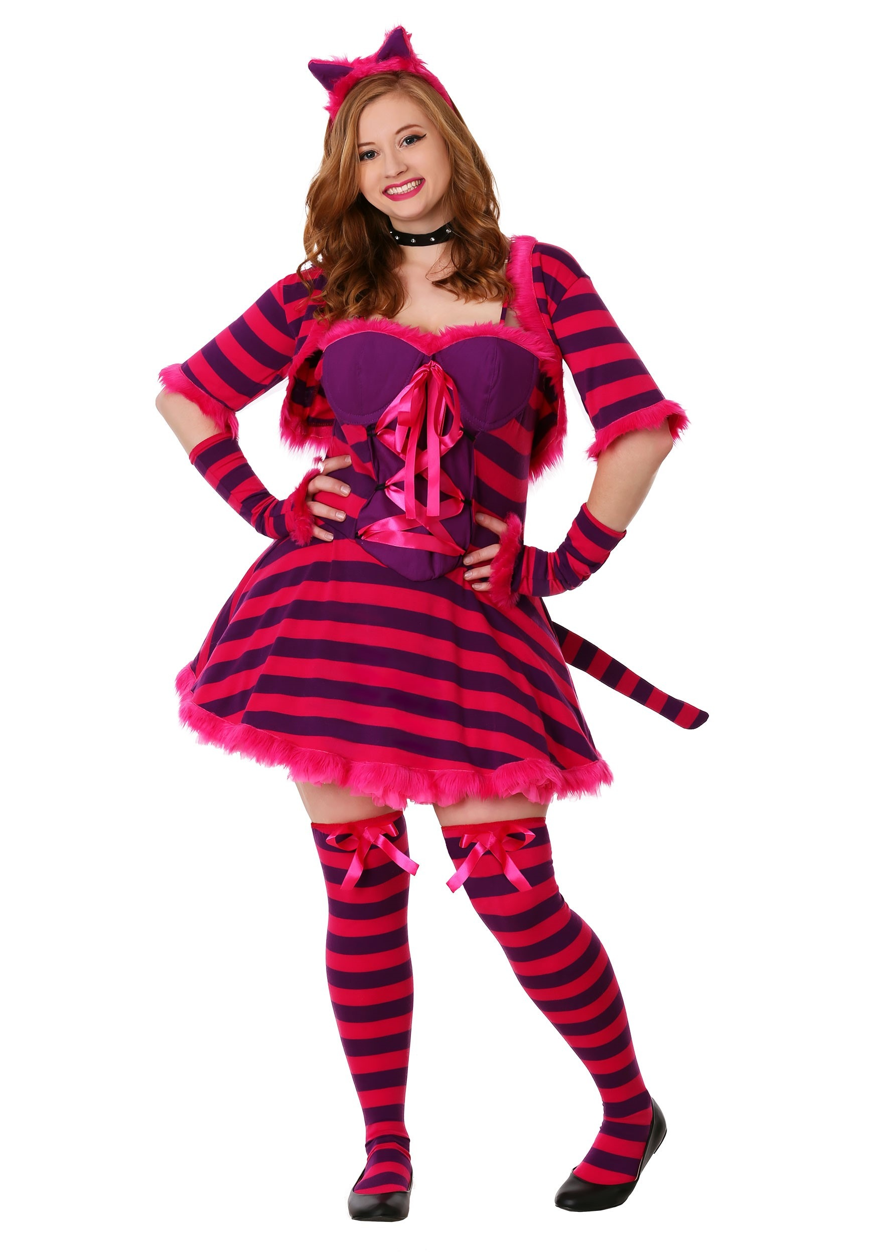 Plus Size Sexy Wonderland Cat Costume | Cheshire Cat Costume Womens