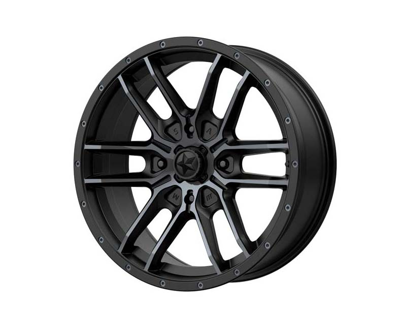 MSA Offroad M43 FANG Wheel 20x7 4x137 10mm Satin Black With Titanium Tint