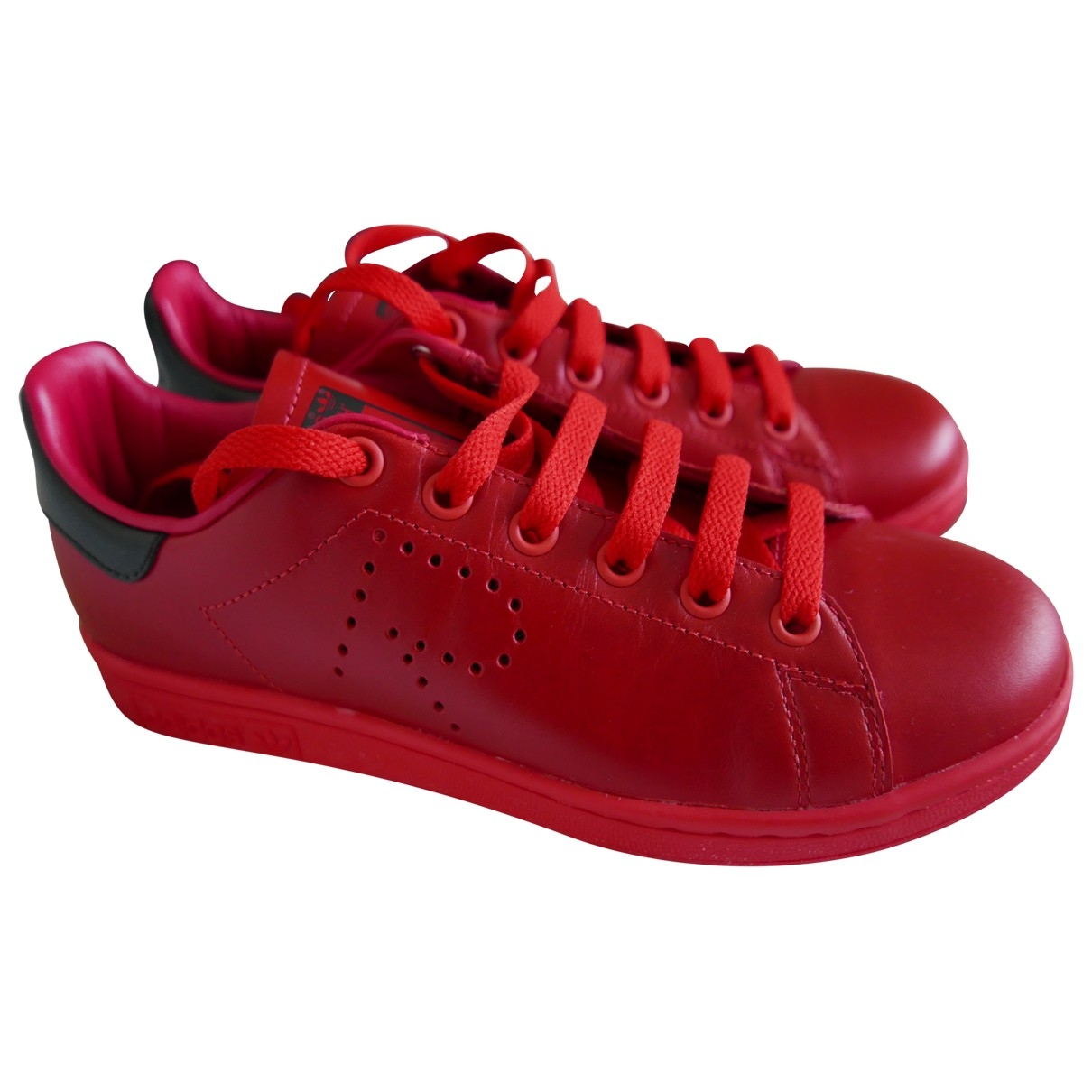 Adidas X Raf Simons Stan Smith Sneakers in  Rot Leder