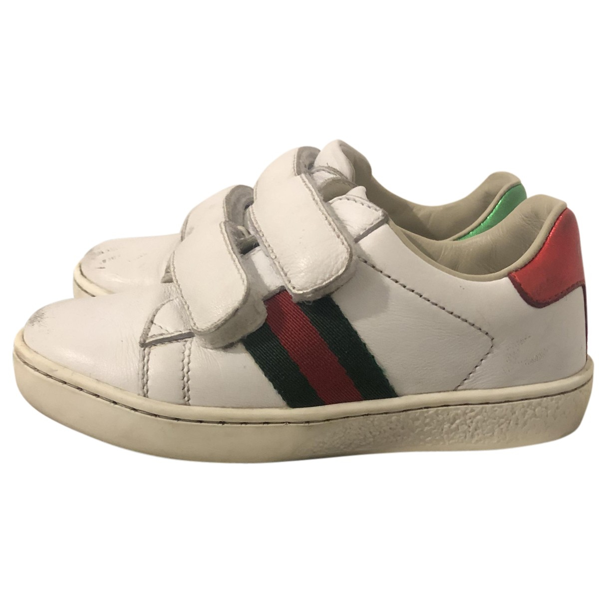 Gucci N White Leather Trainers for Kids 24 FR