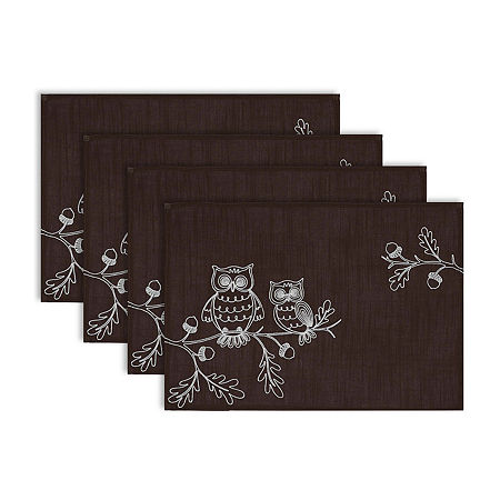 Design Imports 4-pc. Placemat, One Size , Brown