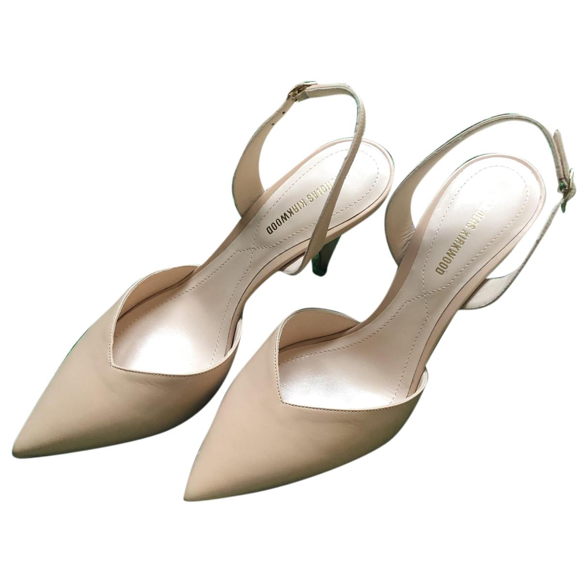 Nicholas Kirkwood N Beige Leather Heels for Women 38 EU