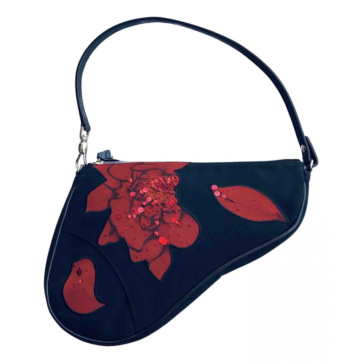 Dior Saddle Black Cloth Clutch bag for Women N
