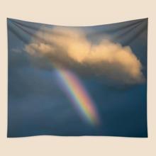 Rainbow & Cloud Print Tapestry