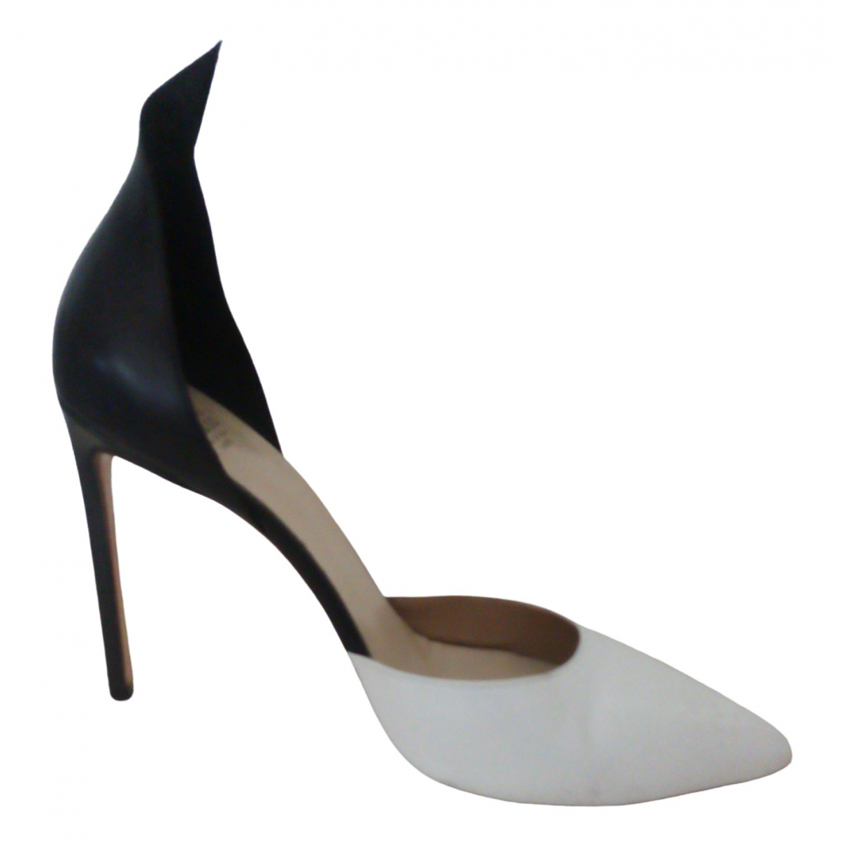 Francesco Russo \N Black Leather Heels for Women 39 EU