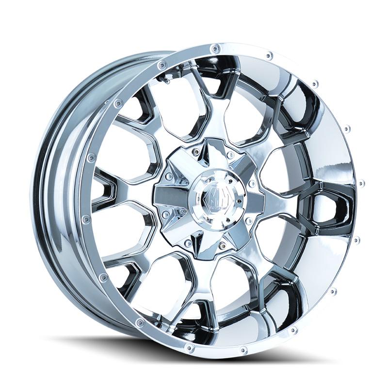 Mayhem Warrior 8015 Chrome 20x9 8x180 0mm 124.1mm Wheel