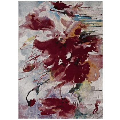 Blume Collection R-1090A-58 Abstract Floral 5x8 Area Rug in Multicolored
