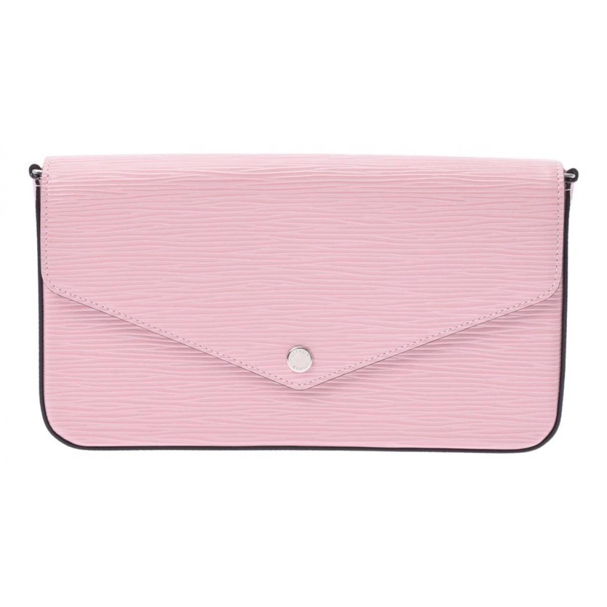 Louis Vuitton - Pochette Felicie pour femme en cuir - rouge