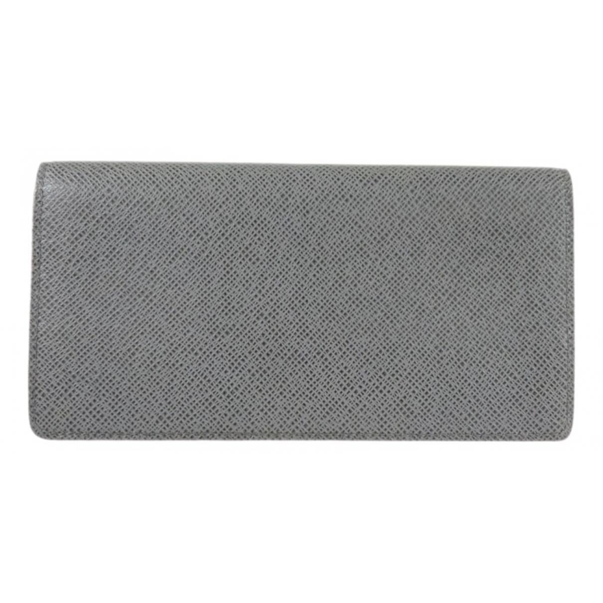 Louis Vuitton Brazza Kleinlederwaren in  Grau Leder