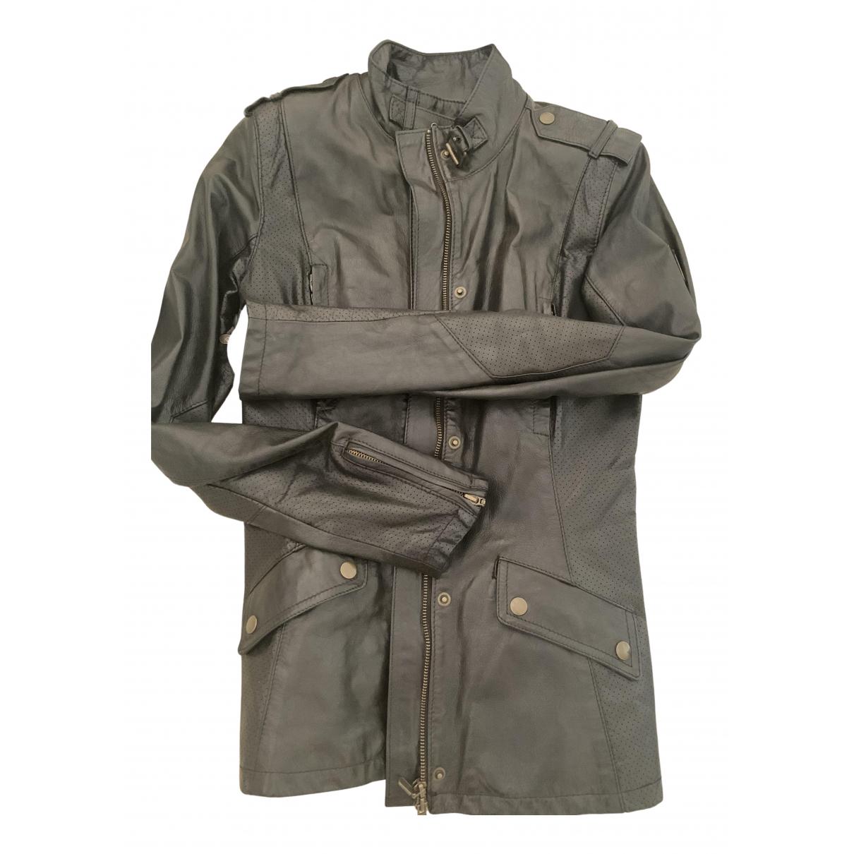 Belstaff N Black Leather jacket for Women 40 IT