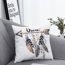 Feather Print Cushion Cover