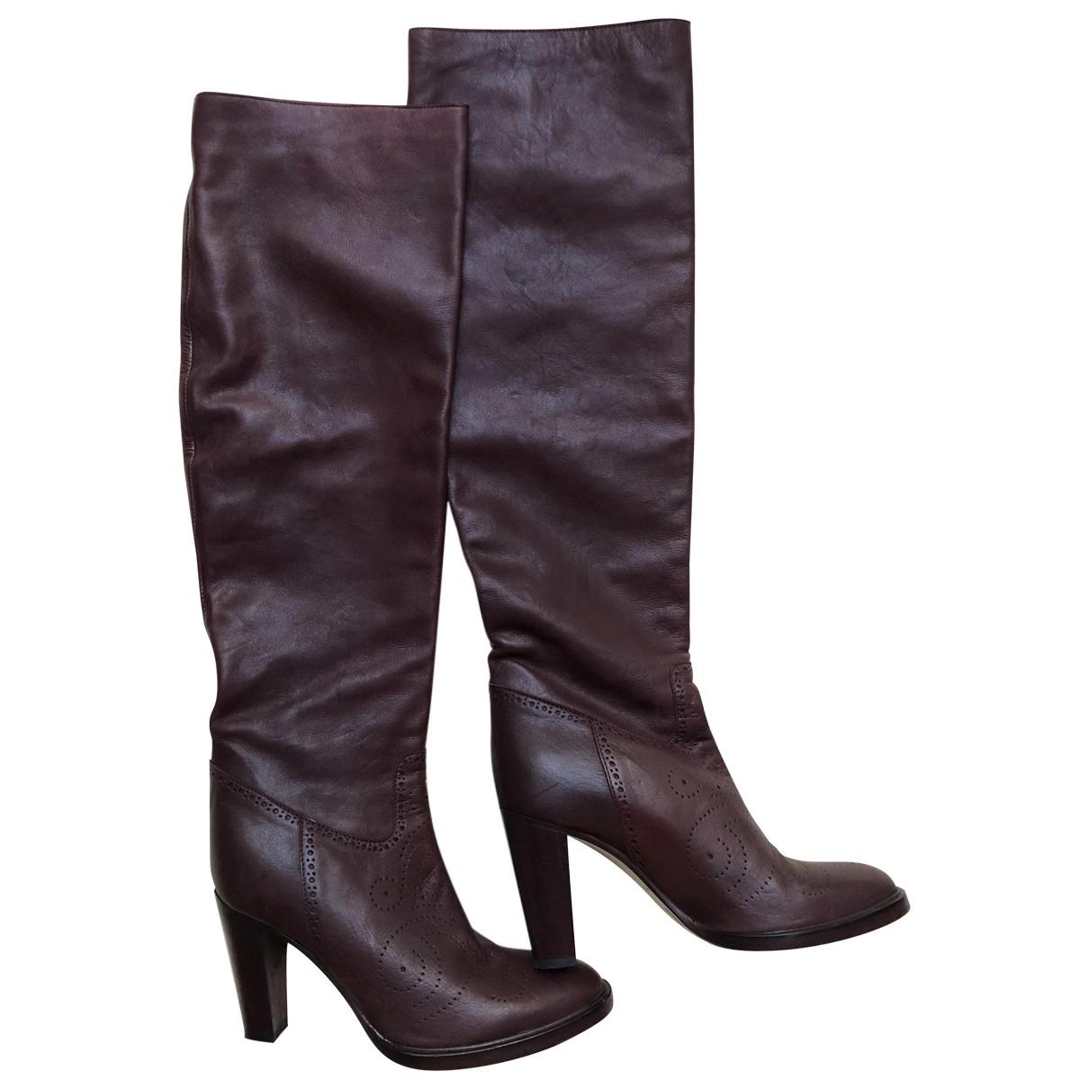A.f.vandevorst \N Burgundy Leather Boots for Women 37.5 EU