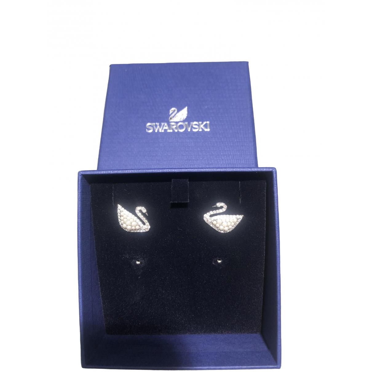 Swarovski \N White Metal Earrings for Women \N