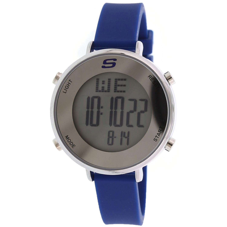 Skechers Watch  SR6067 Magnolia Digital Display Calendar, Back Light, Alarm, Chronograph Stainless Steel / Blue