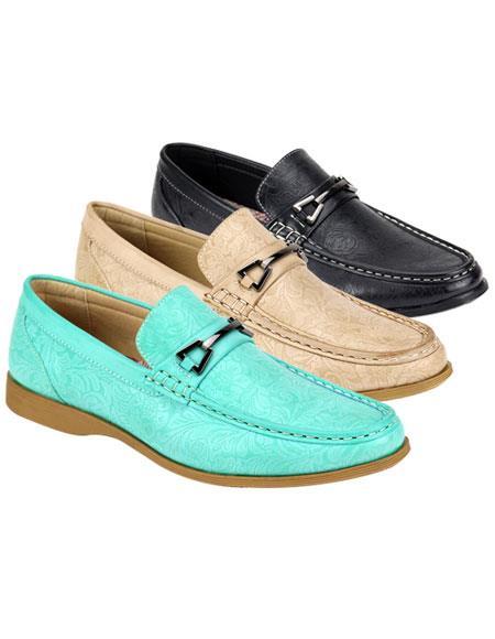 Mens Cap Toe Two Toned Black ~ Ivory ~ Sky Blue shoes
