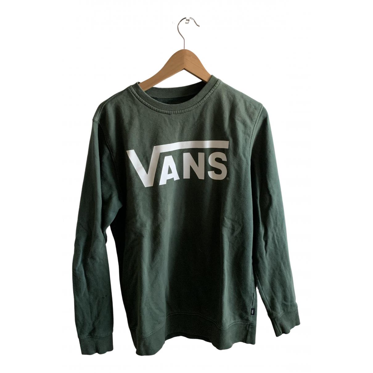 Vans \N Pullover.Westen.Sweatshirts  in  Gruen Baumwolle