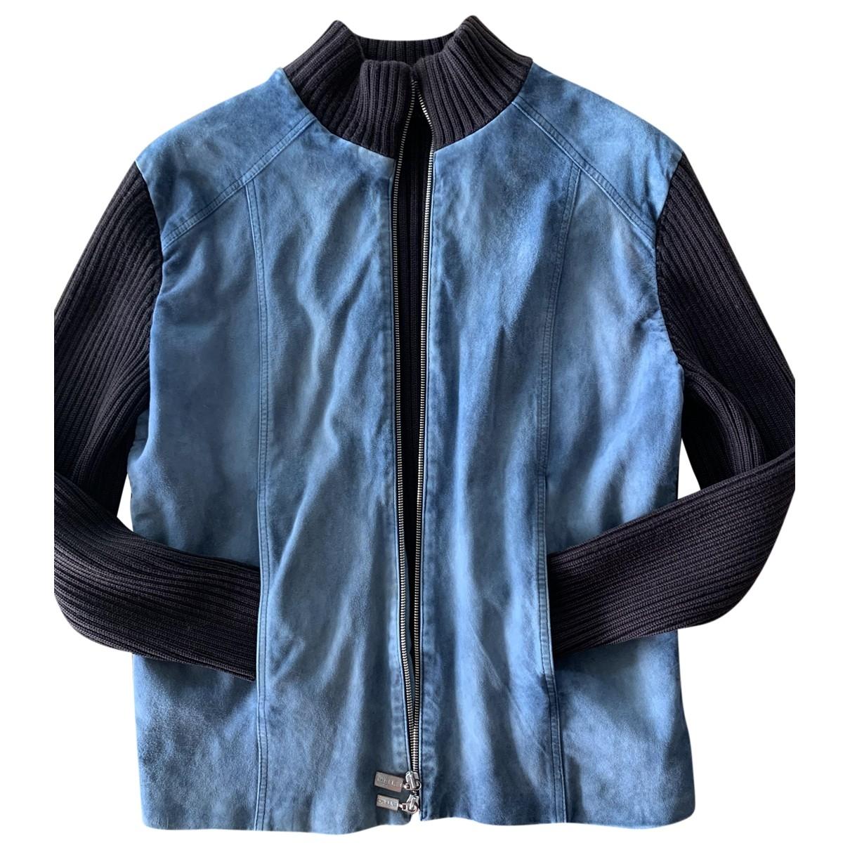 Etro \N Jacke in  Blau Wolle