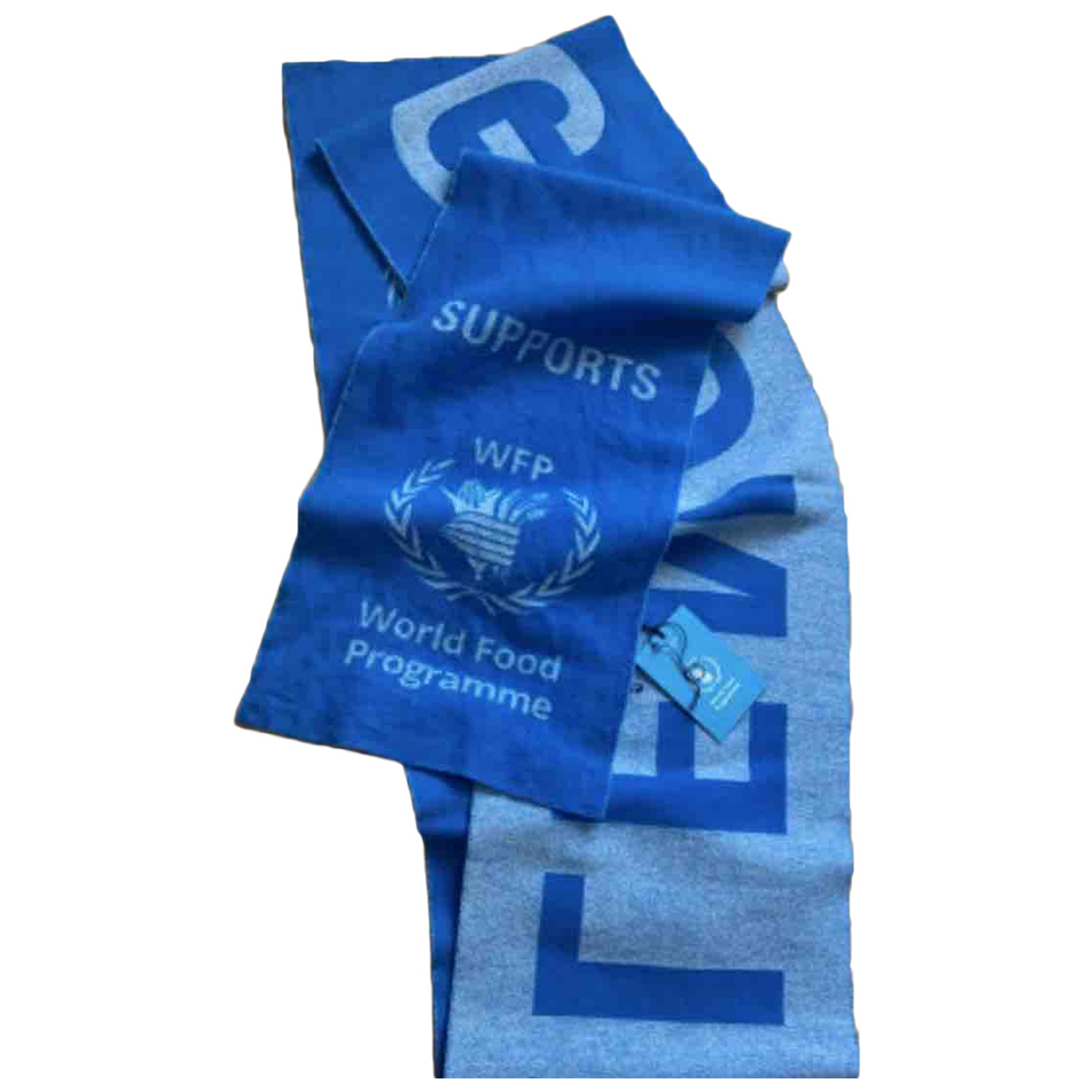 Balenciaga - Foulard   pour femme en laine - bleu