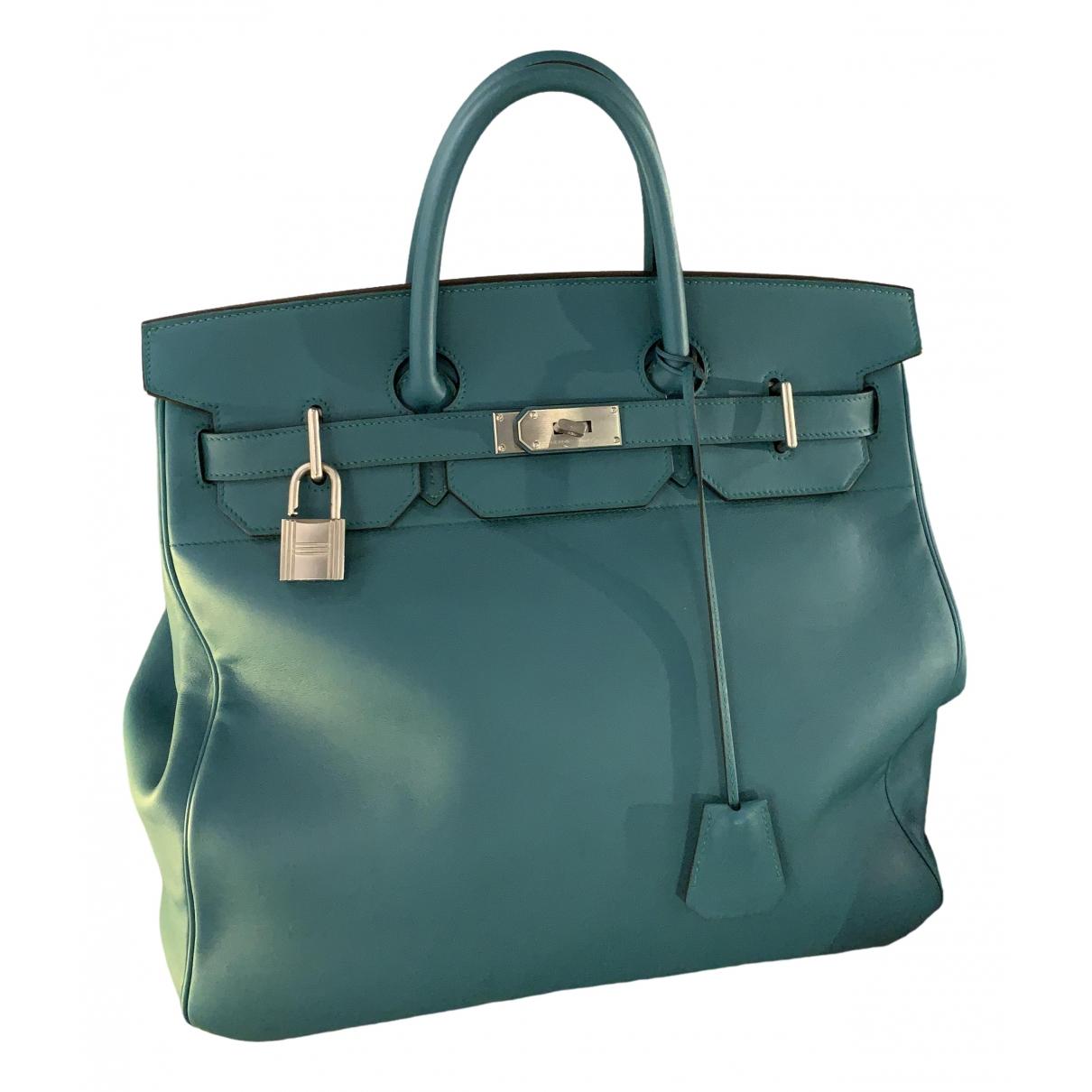 Hermès Haut à Courroies Blue Leather handbag for Women \N