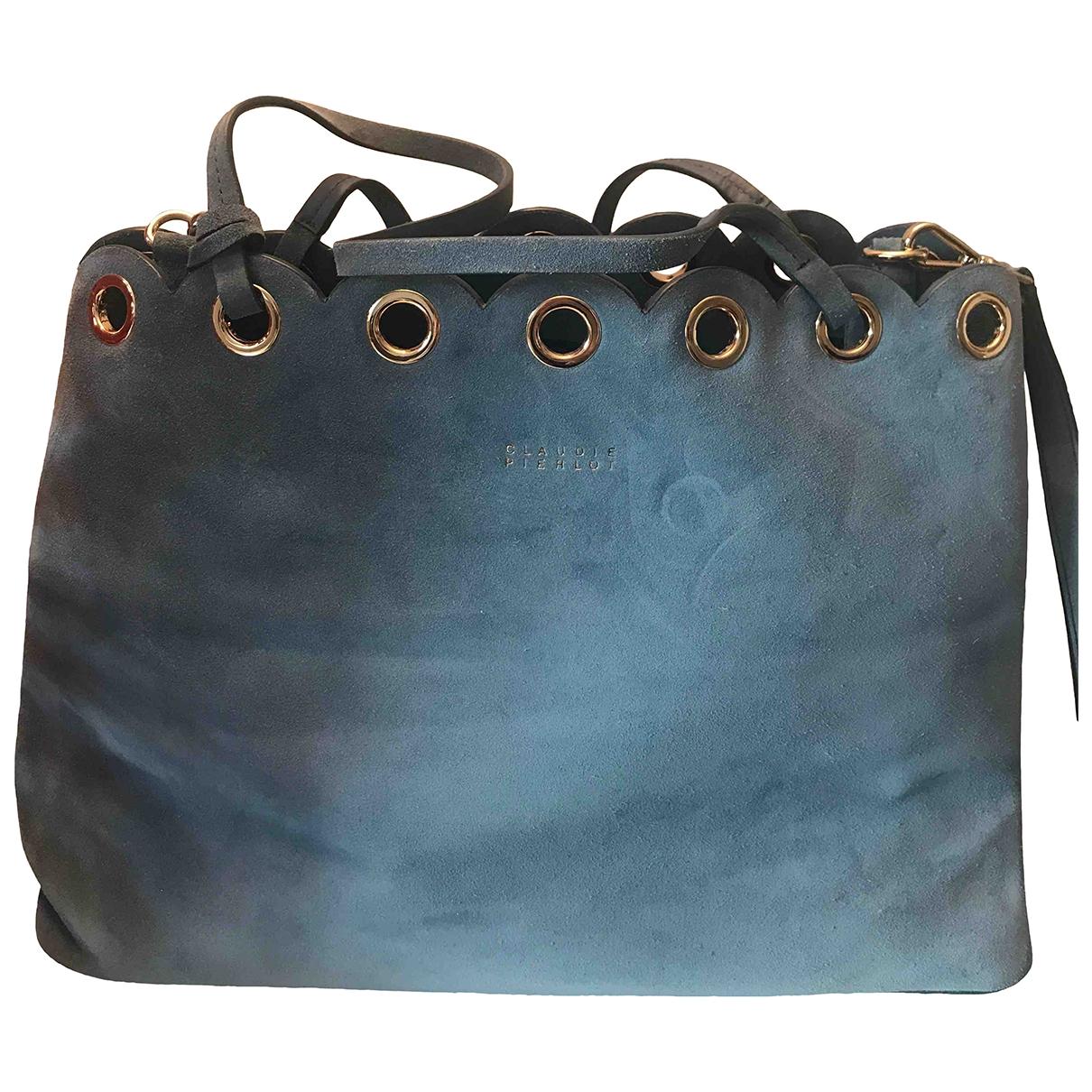 Claudie Pierlot \N Handtasche in  Blau Leder