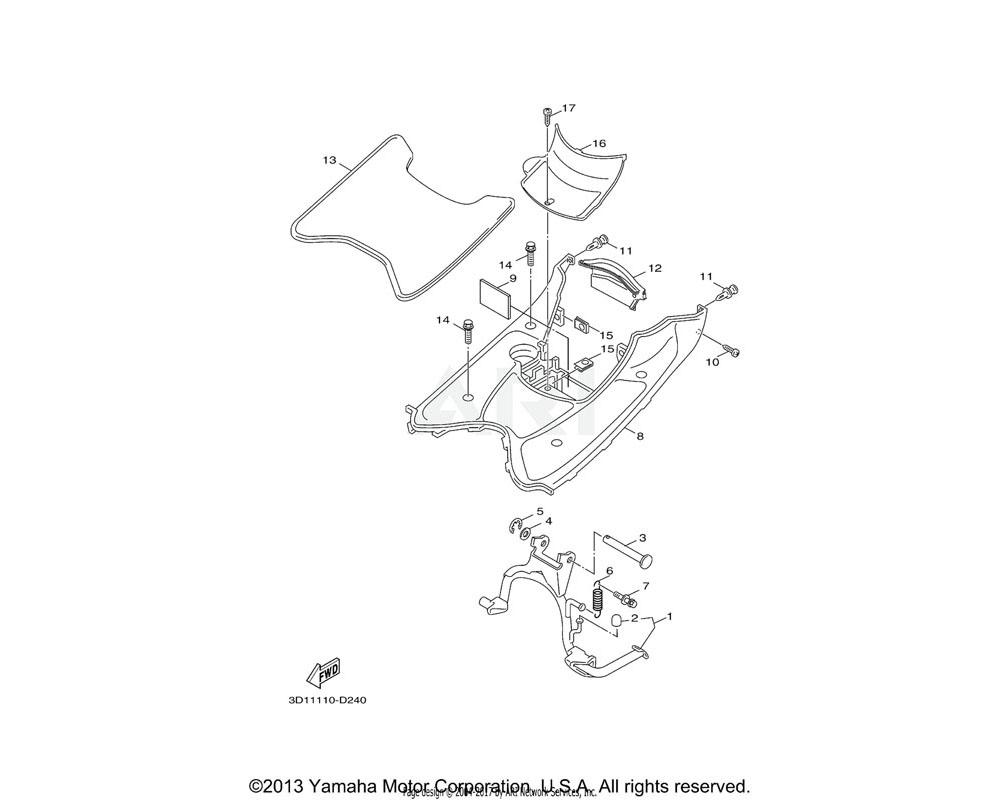 Yamaha OEM 5ST-F7483-11-00 MAT 1