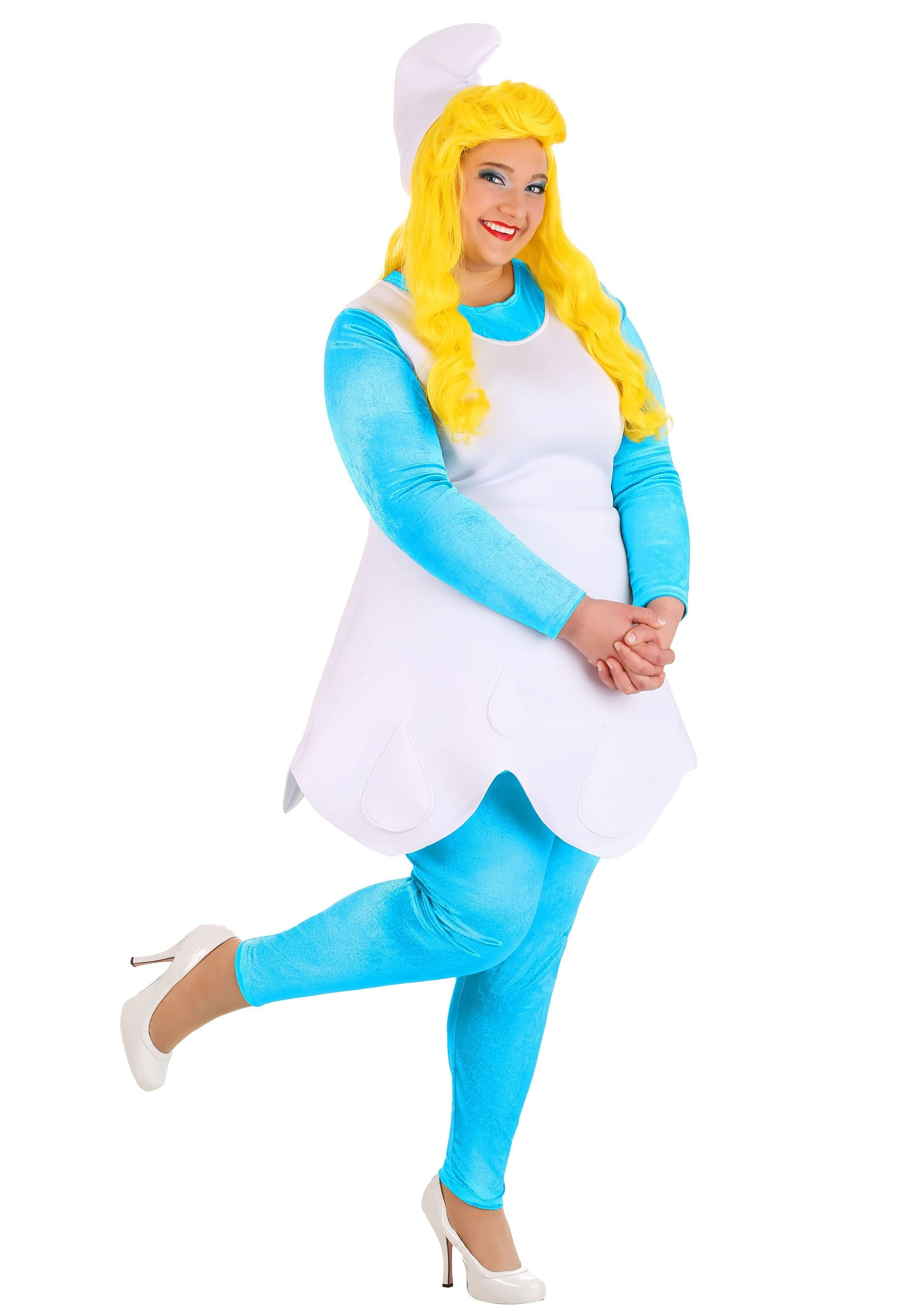 Women's Plus Size The Smurfette Smurf Costume