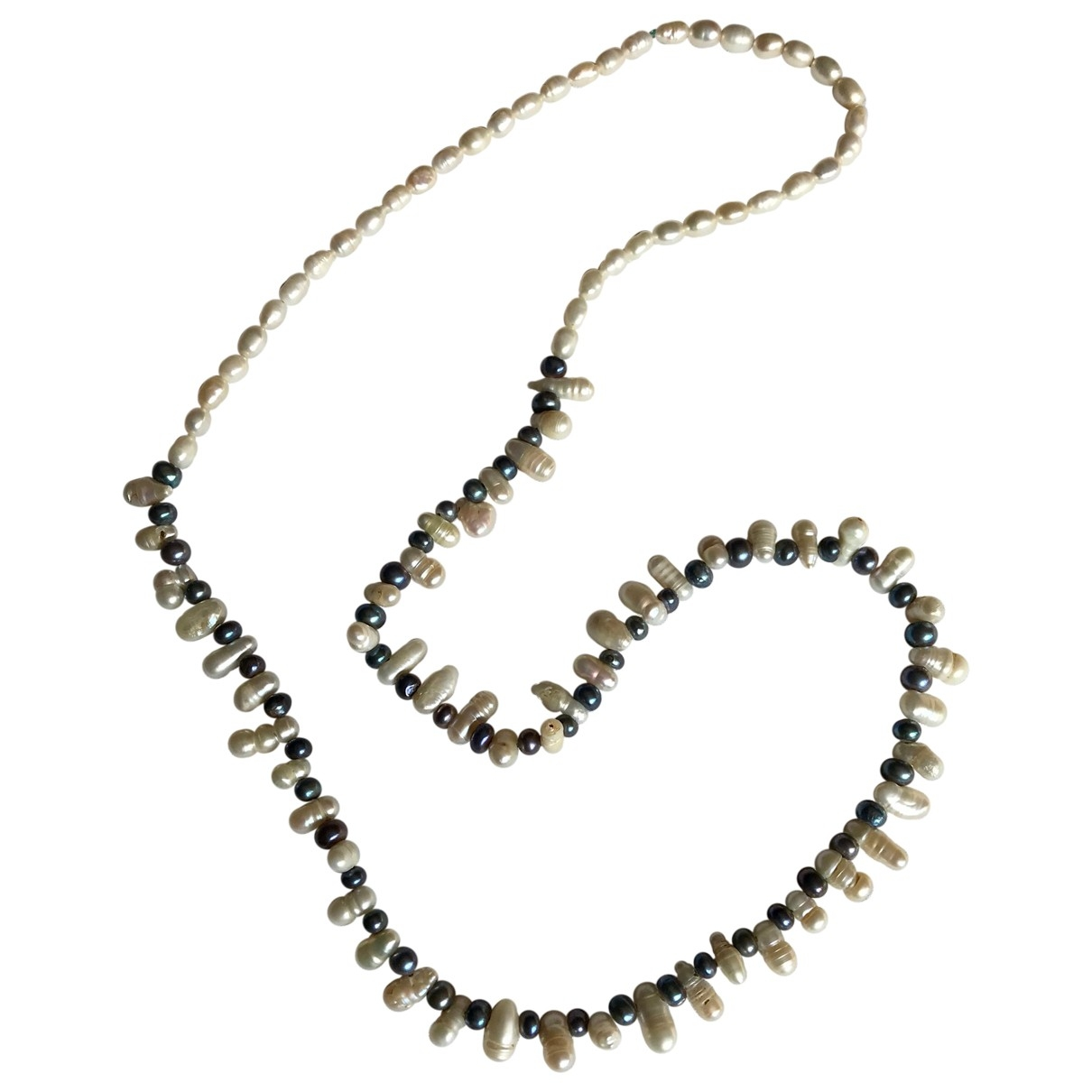 Non Signe / Unsigned \N Halskette in Perlen