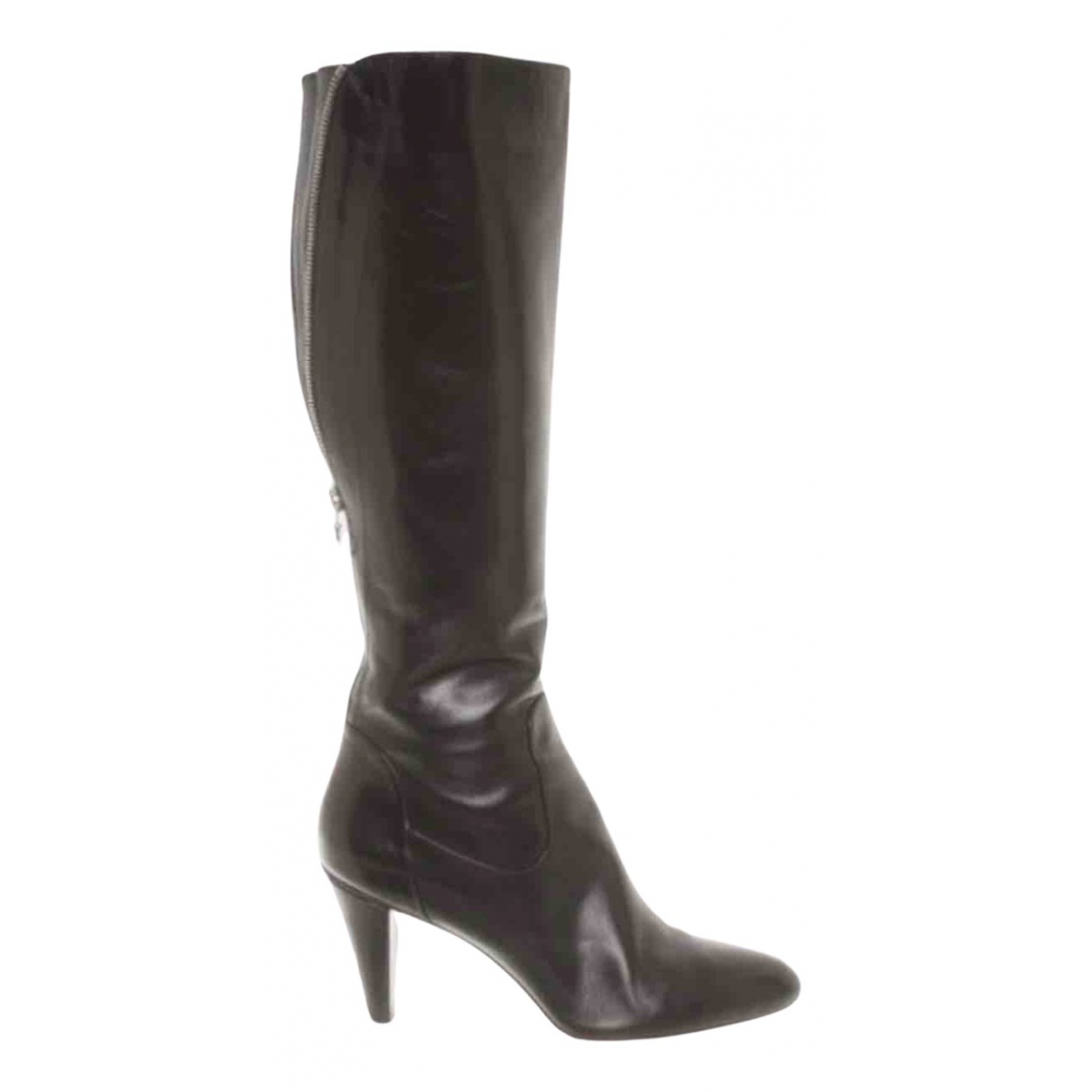 Boss \N Black Leather Boots for Women 38 EU