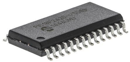 Microchip PIC18F2420-I/SO, 8bit PIC Microcontroller, PIC18F, 40MHz, 16 kB, 256 B Flash, 28-Pin SOIC