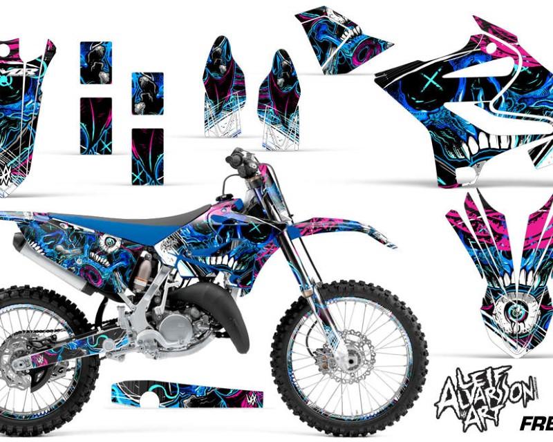 AMR Racing Graphics MX-NP-YAM-YZ125-YZ250-15-18-FZ U Kit Decal Sticker Wrap + # Plates For Yamaha YZ125 YZ250 2015-2018áFRENZY BLUE