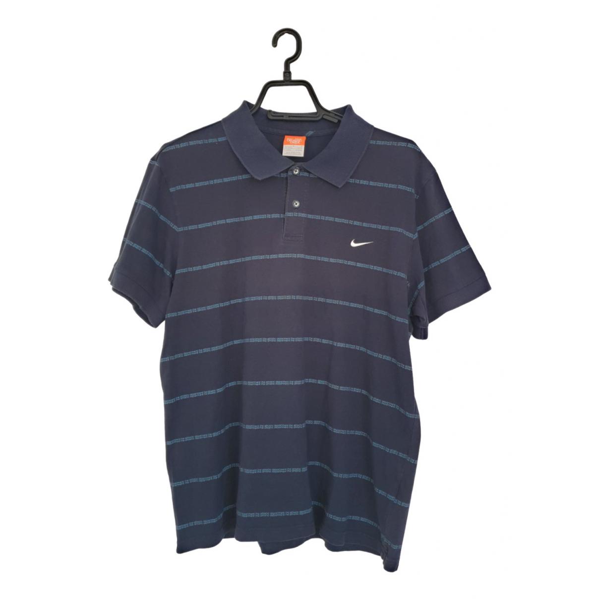 Nike \N Poloshirts in  Blau Baumwolle