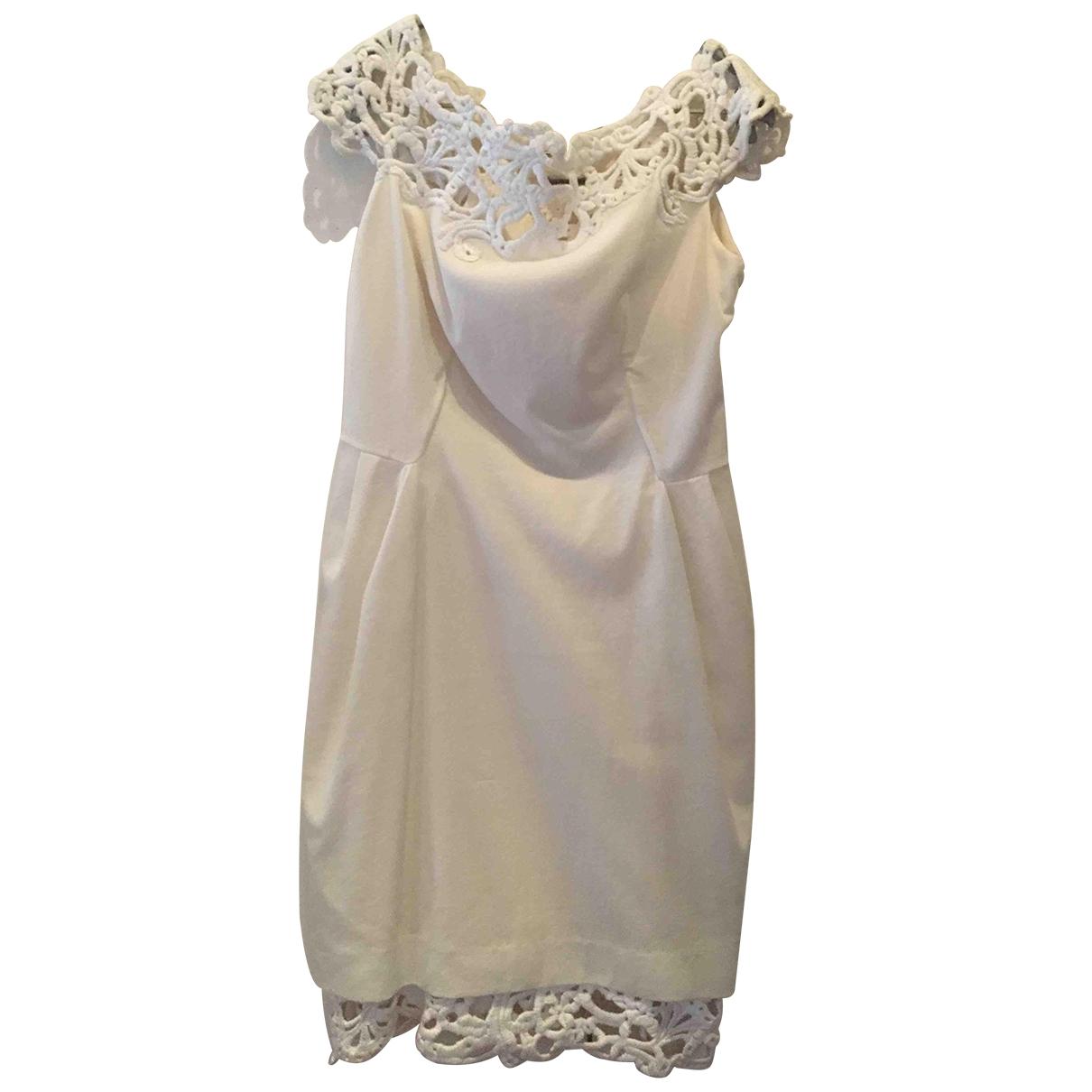 Ermanno Scervino \N Kleid in  Weiss Baumwolle