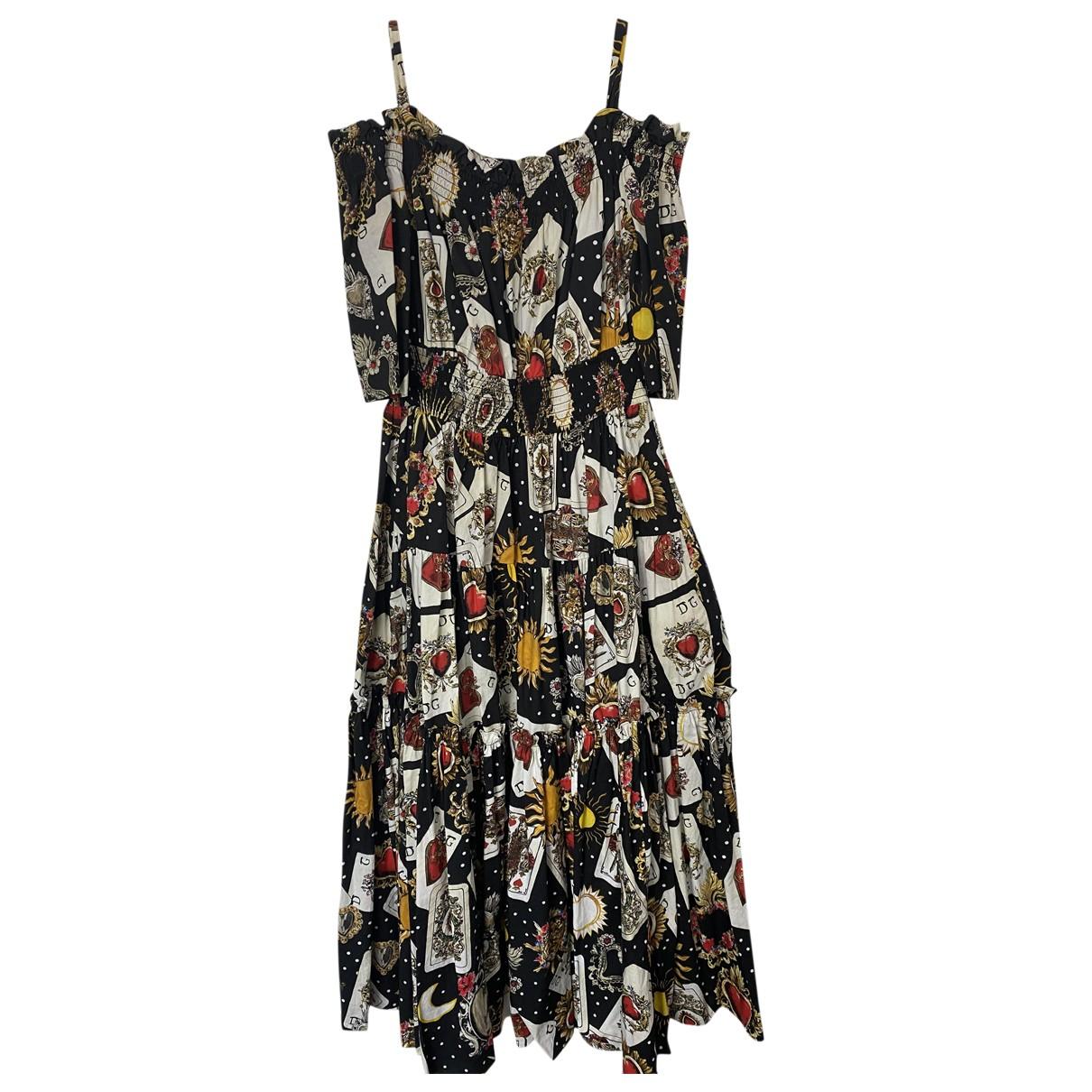Dolce & Gabbana - Robe   pour femme en coton - multicolore