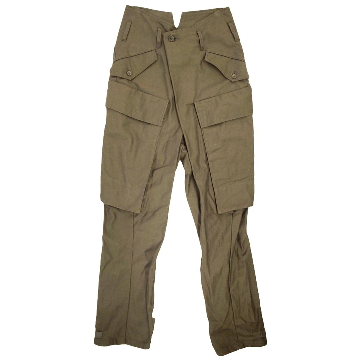 Pantalones en Algodon Verde Julius 7