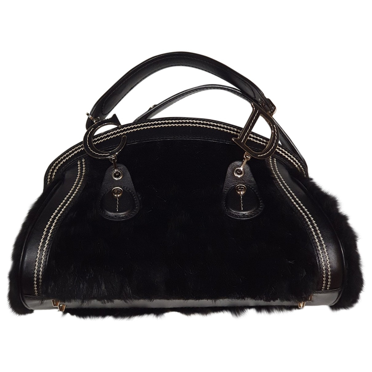 Dior - Sac a main   pour femme en fourrure - noir