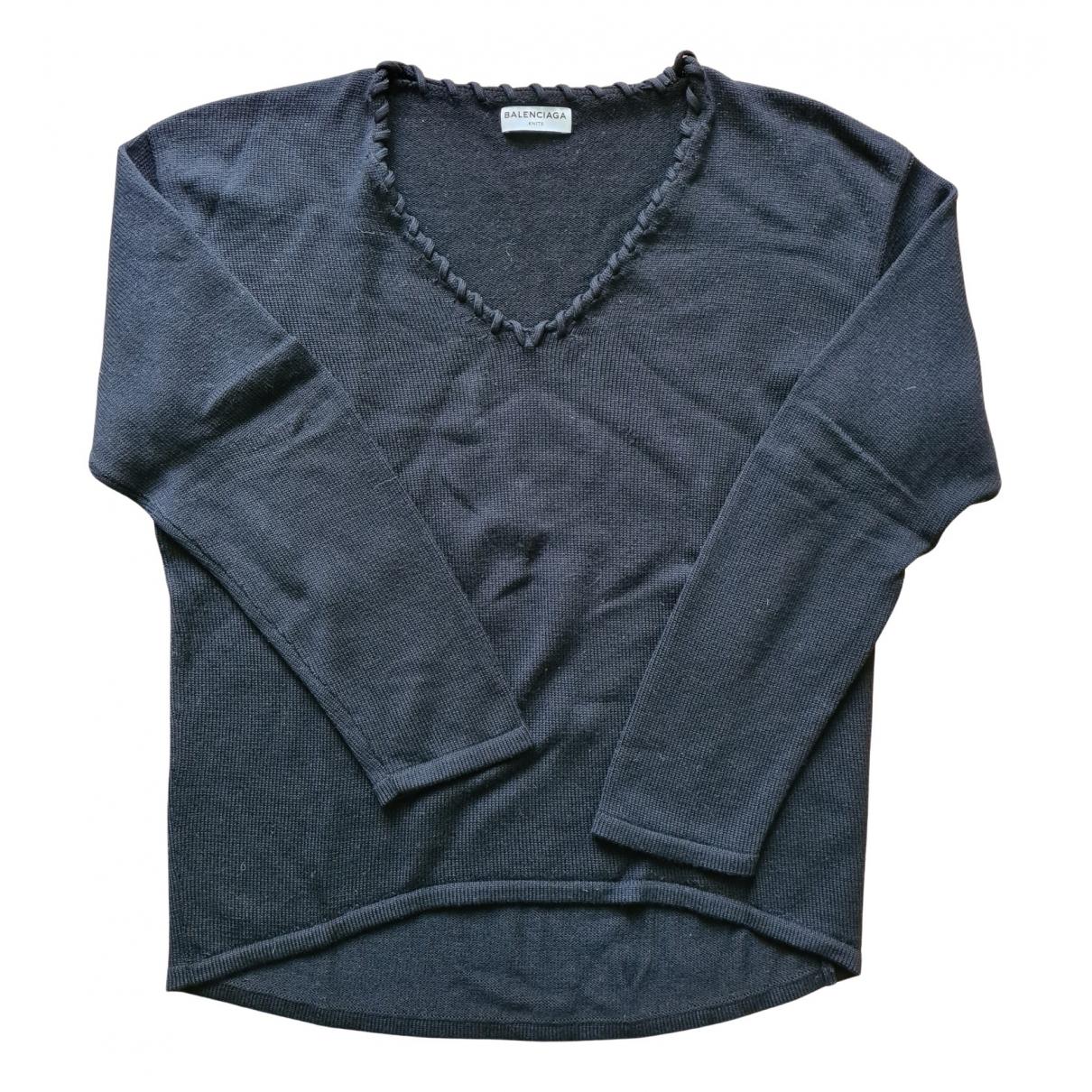 Balenciaga \N Black Wool Knitwear for Women 40 FR