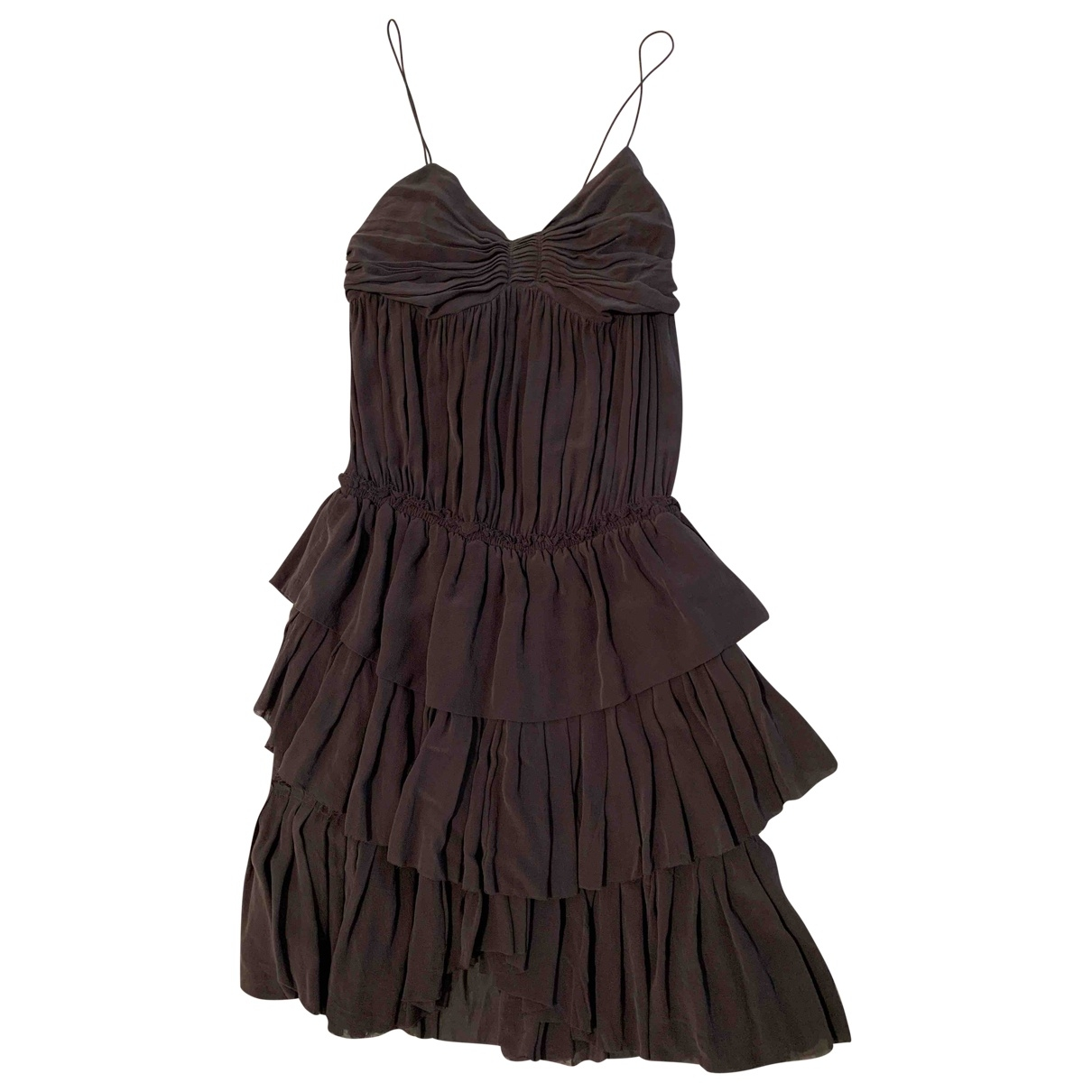 Isabel Marant Etoile \N Anthracite Silk dress for Women 1 0-5