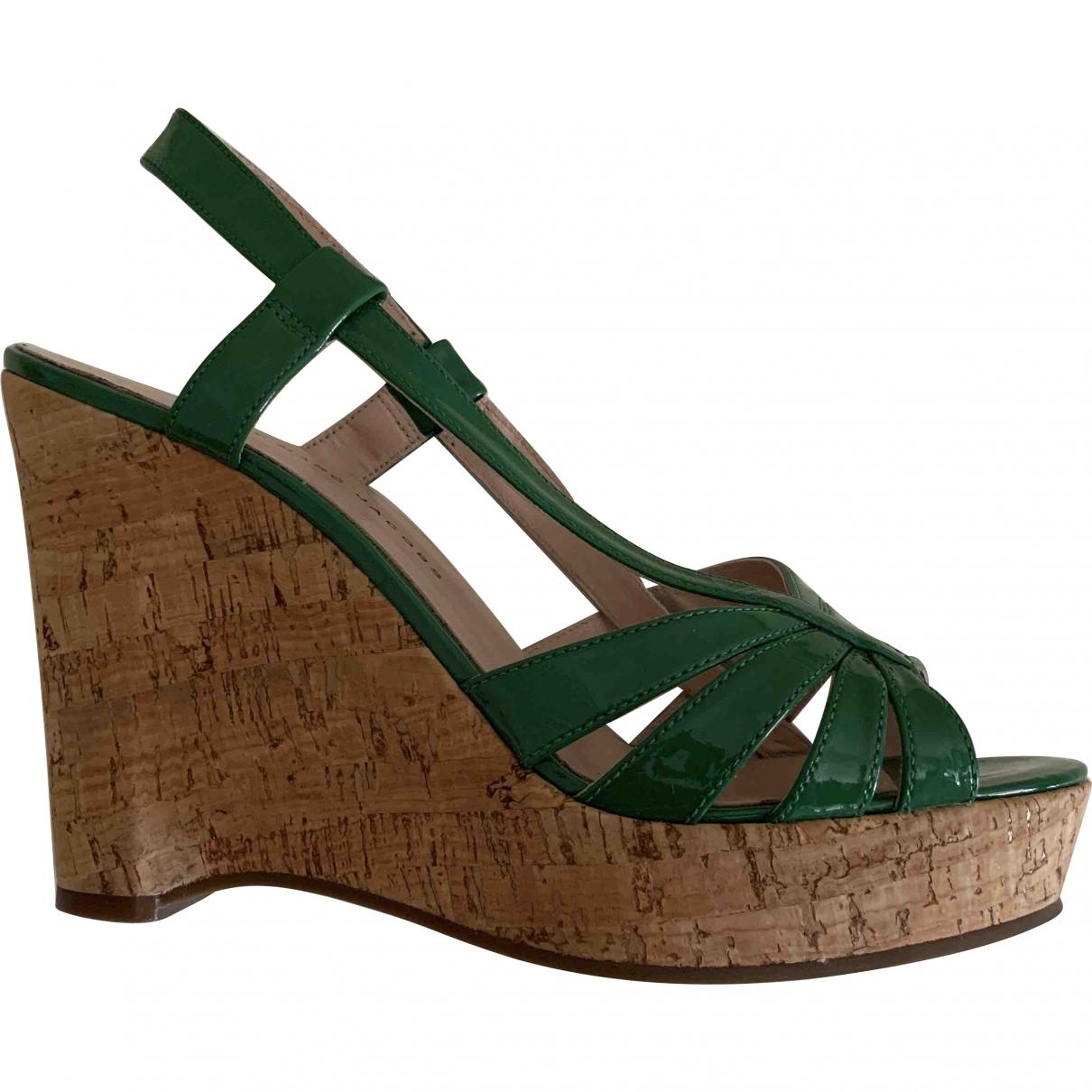Marc By Marc Jacobs - Sandales   pour femme en cuir verni - vert