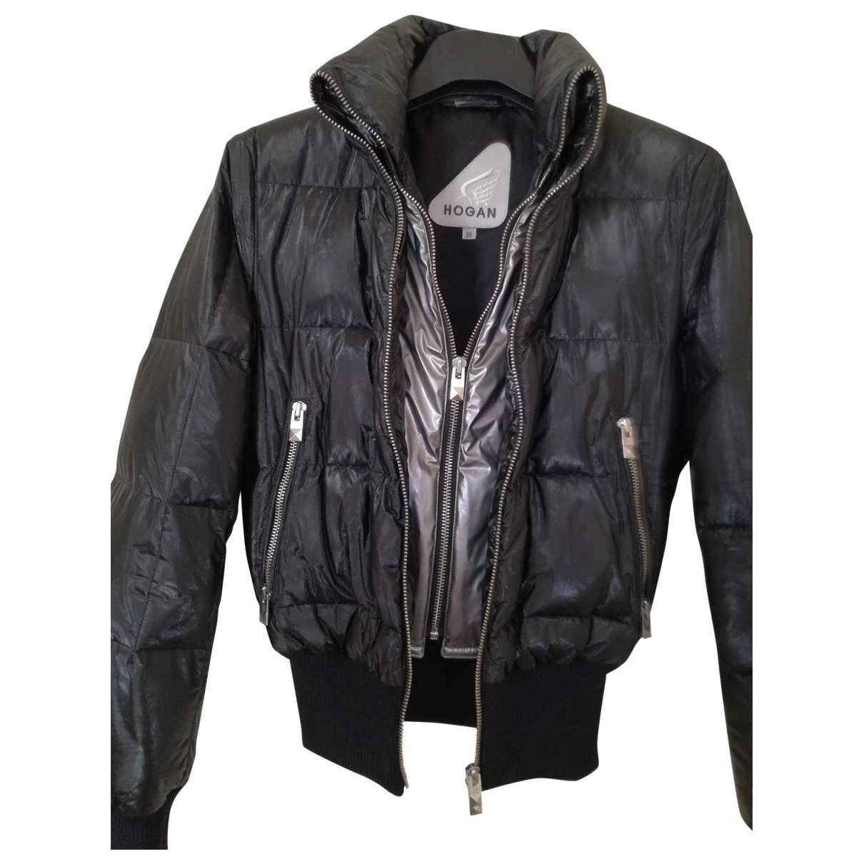 Hogan \N Jacke in  Anthrazit Polyester