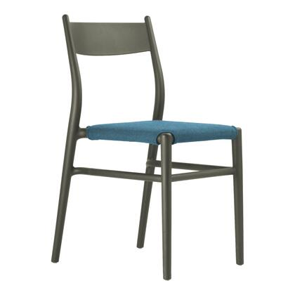 Joi TO-1536Db-LB Thirtysix Chair Dark Brown with Light Blue Seat