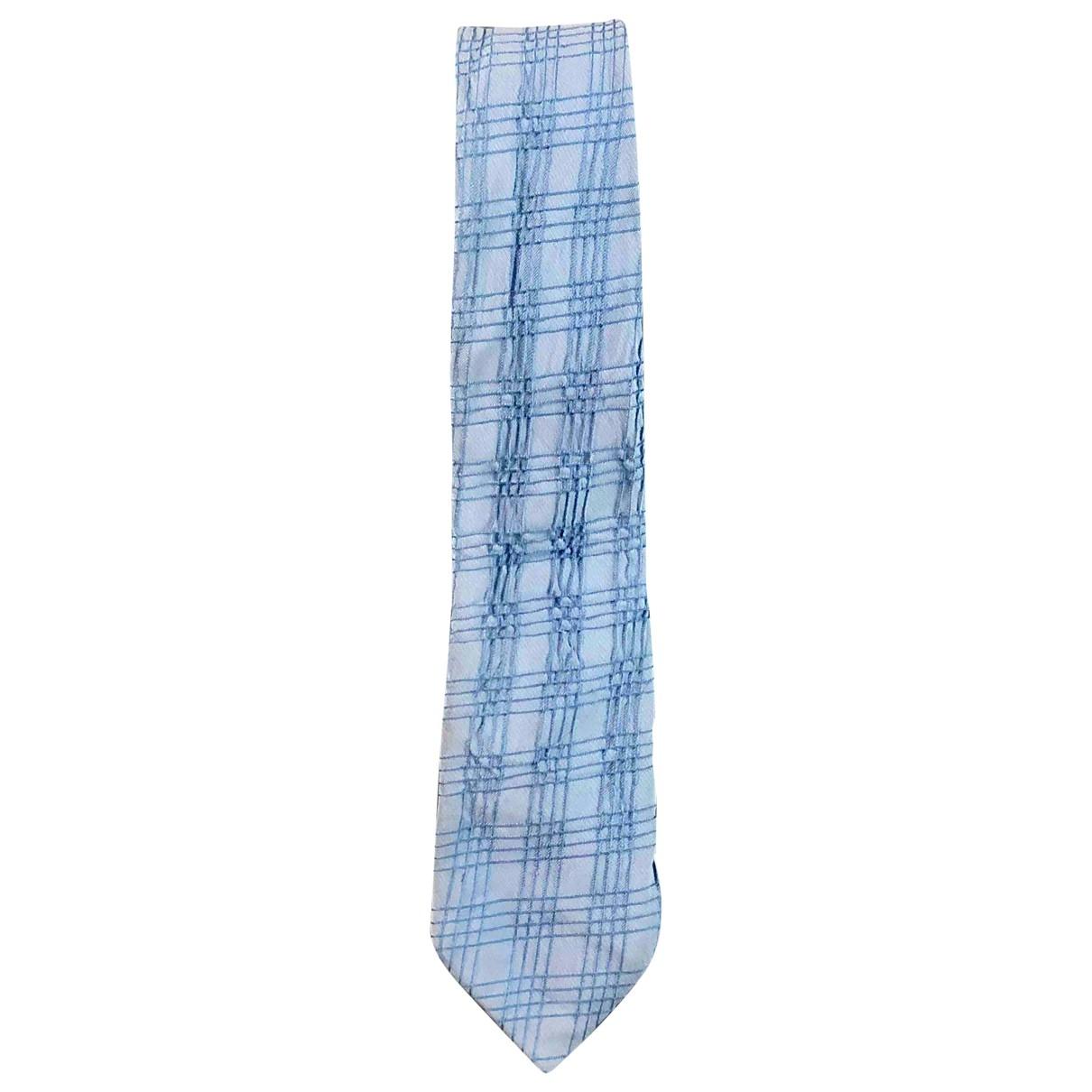 Canali \N Krawatten in  Blau Seide
