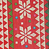 Clear Patchwork Snowflakes Gift Wrap - 30 X 100' - Gift Wrapping Paper by Paper Mart
