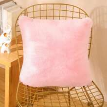 Plain Plush Shaggy Cushion Cover Without Filler