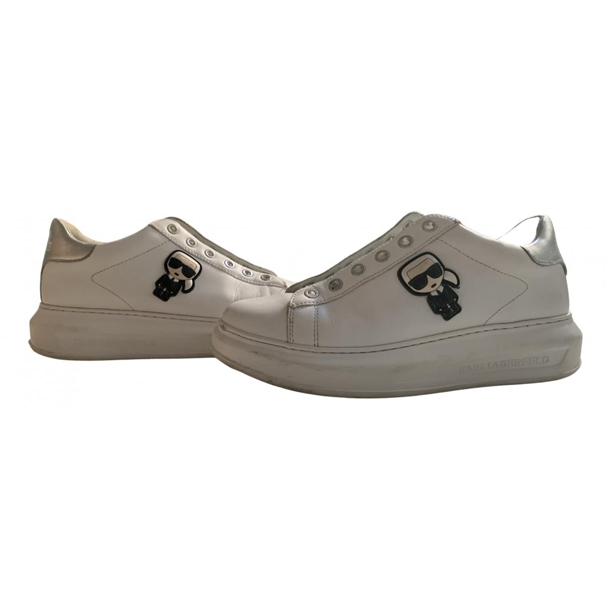 Karl Lagerfeld \N Sneakers in  Weiss Kautschuk