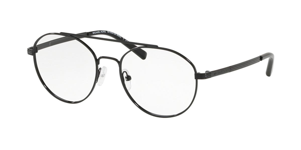 Michael Kors MK3024 ST. BARTS 1202 Men's Glasses Black Size 52 - Free Lenses - HSA/FSA Insurance - Blue Light Block Available