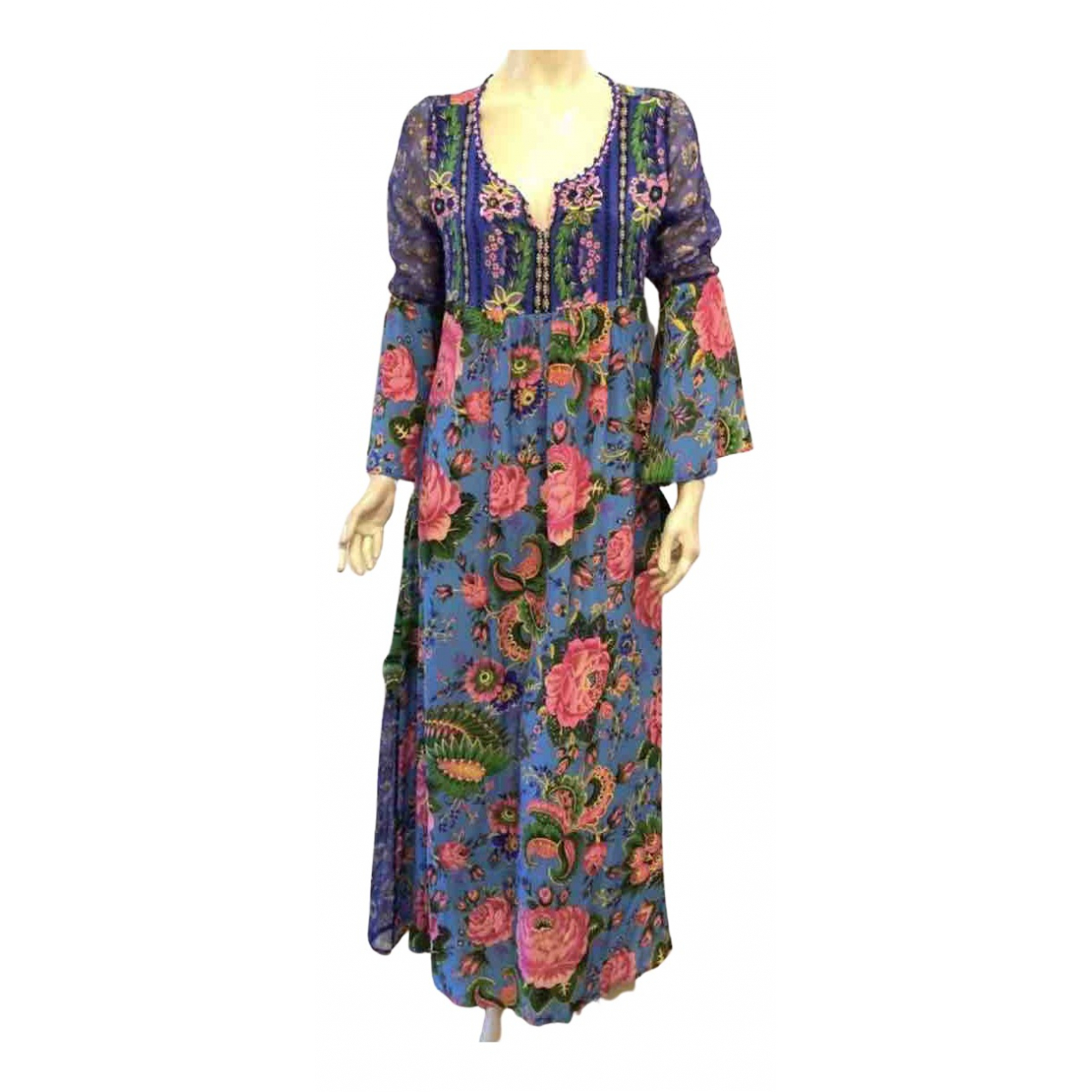 Maxi vestido de Seda Anjuna
