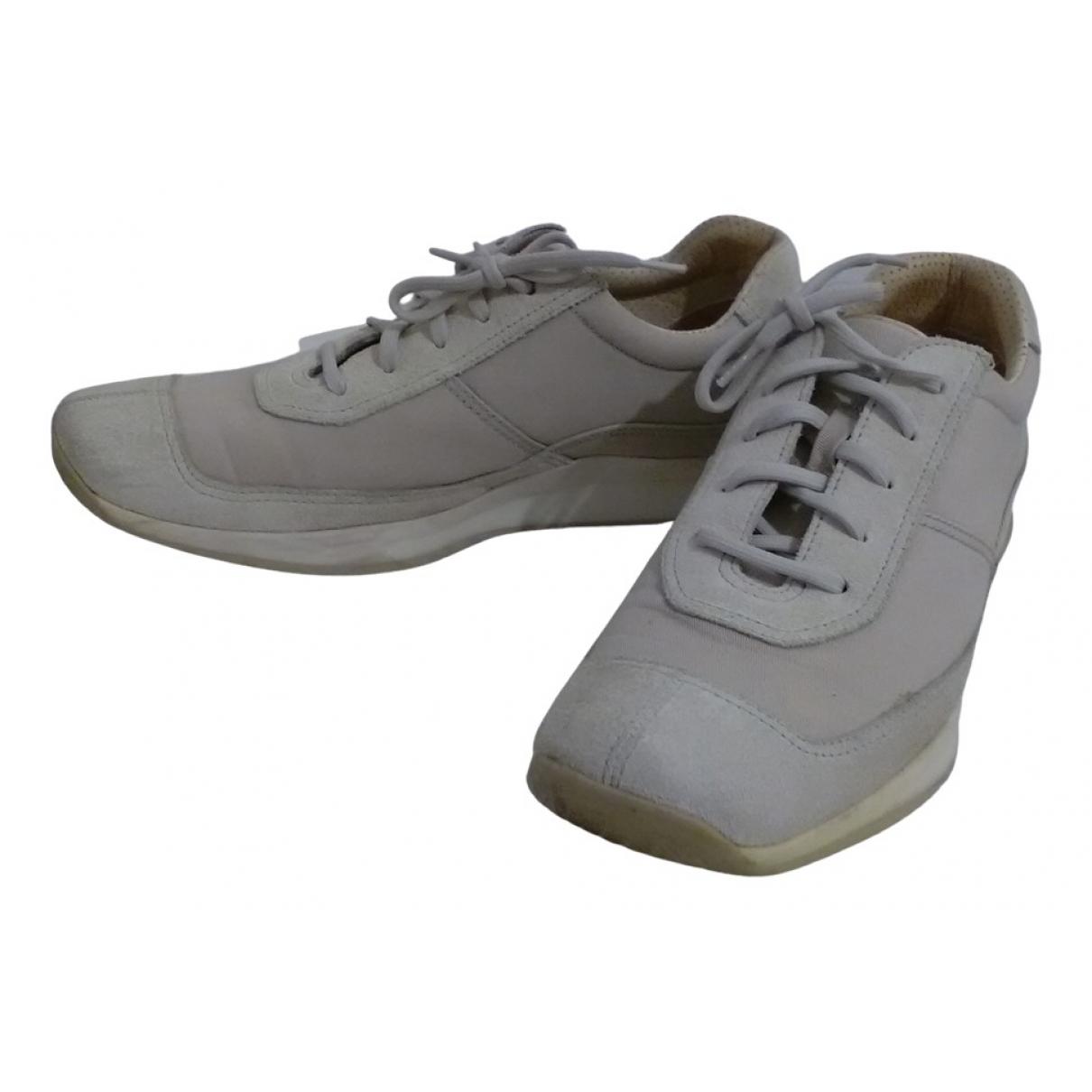 Prada \N Sneakers in  Ecru Veloursleder