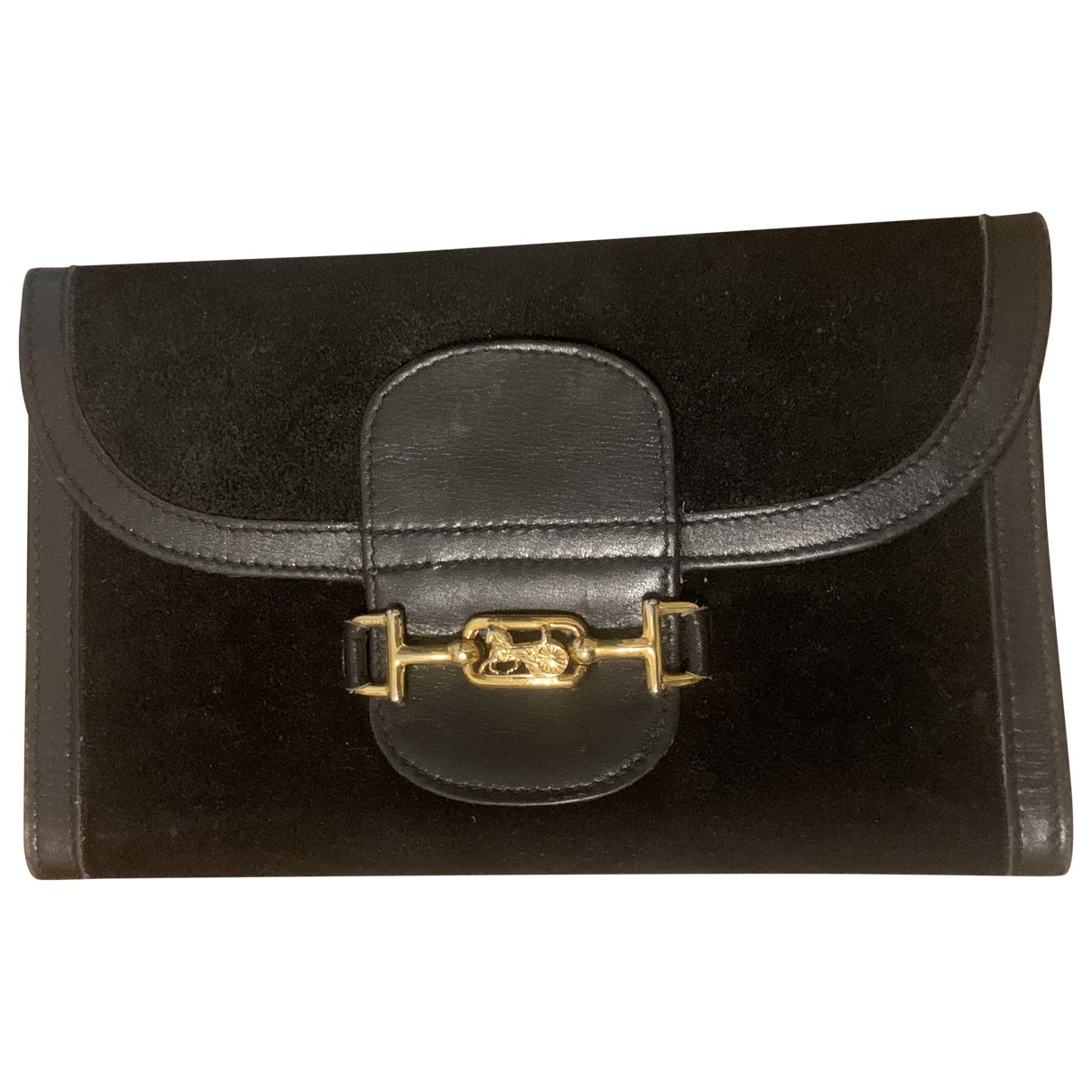 Celine \N Black Suede wallet for Women \N