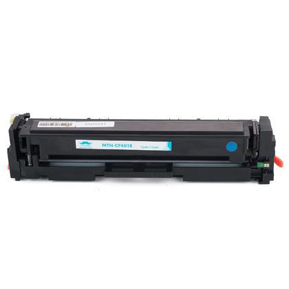 Compatible HP 201X CF401X Cyan Toner Cartridge High Yield - Moustache - 4/Pack