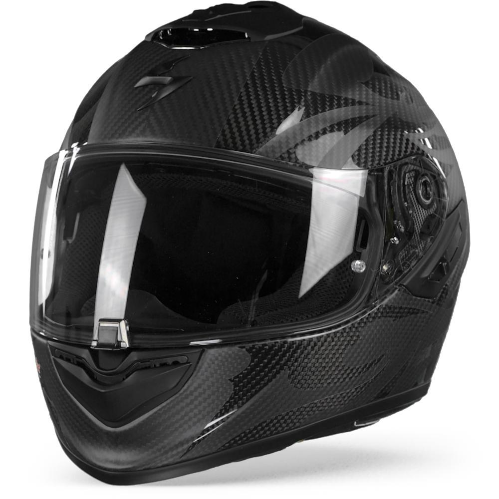 Scorpion EXO-1400 Air Carbon Obscura Casco Integral Matt Negro Negro 2XL